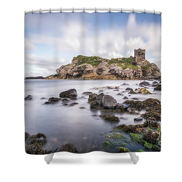 At The Dreamscape Ruins Shower Curtain