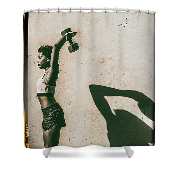 Athletic Woman Shower Curtain