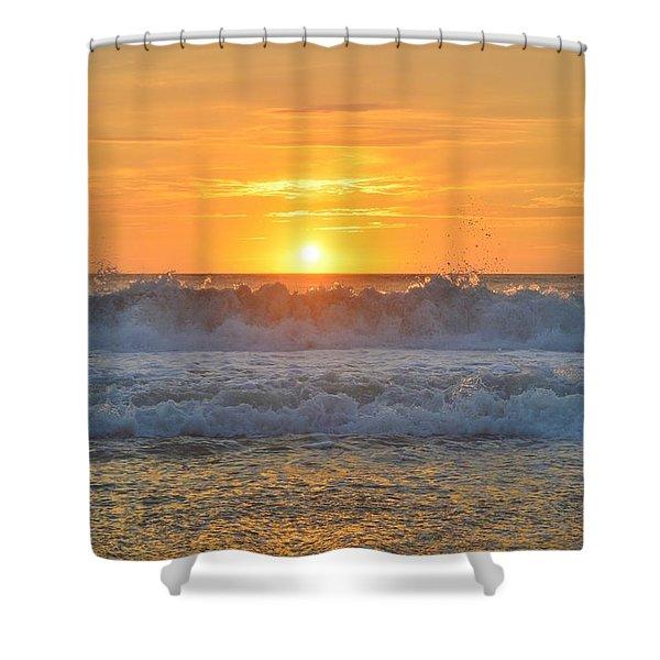 August Sunrise   Shower Curtain