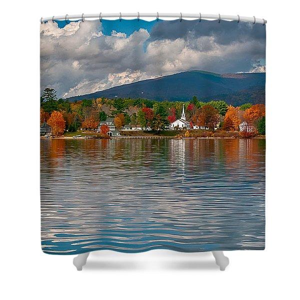 Autumn In Melvin Village Shower Curtain