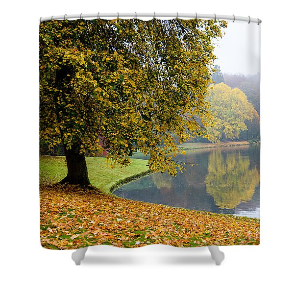 Autumn In The Park Shower Curtain