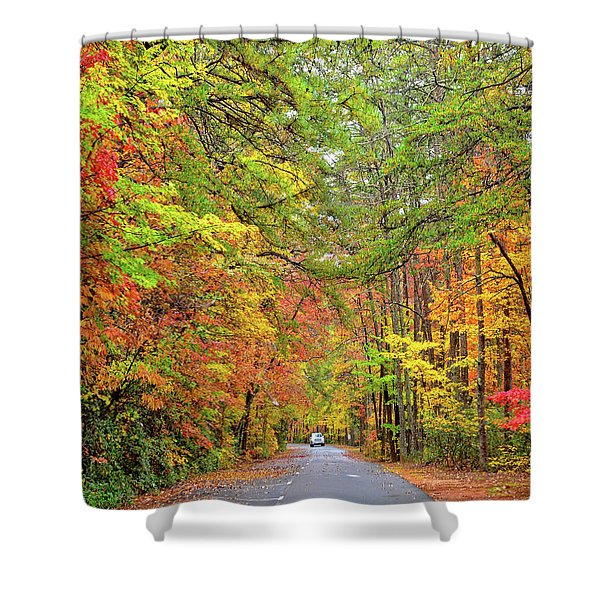 Autumn Travel Shower Curtain