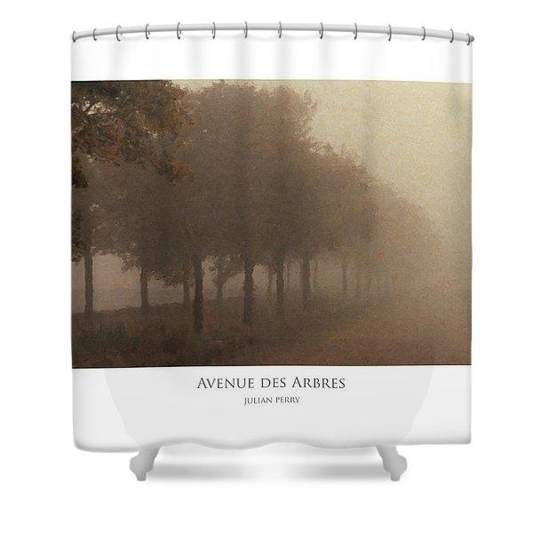 Avenue Des Arbres Shower Curtain