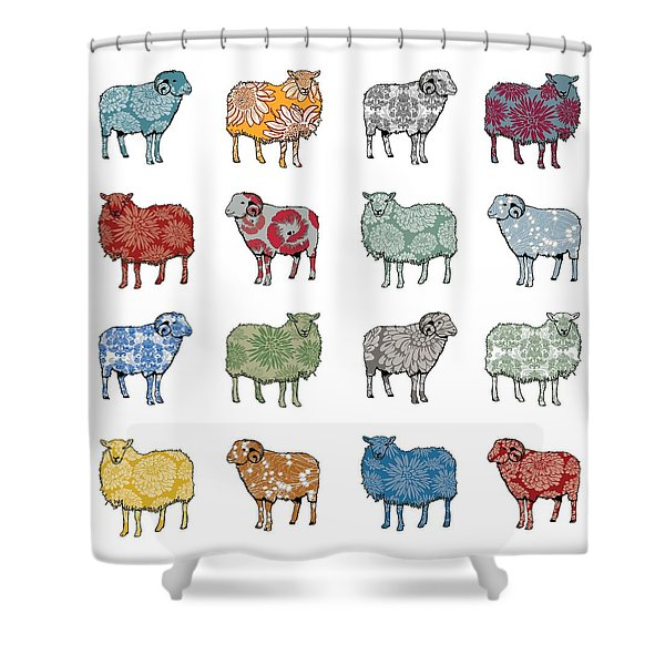 Baa Humbug Shower Curtain