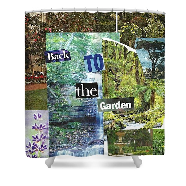 Back To The Garden Shower Curtain