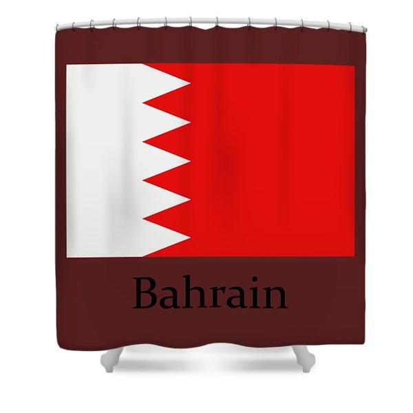 Bahrain Flag Shower Curtain