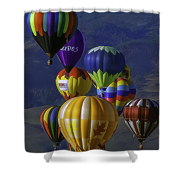 Balloons Over Reno Shower Curtain