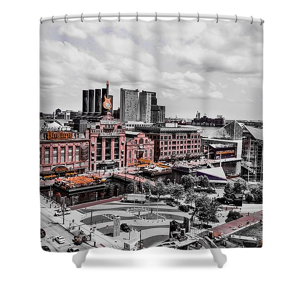Baltimore Power Plant Shower Curtain