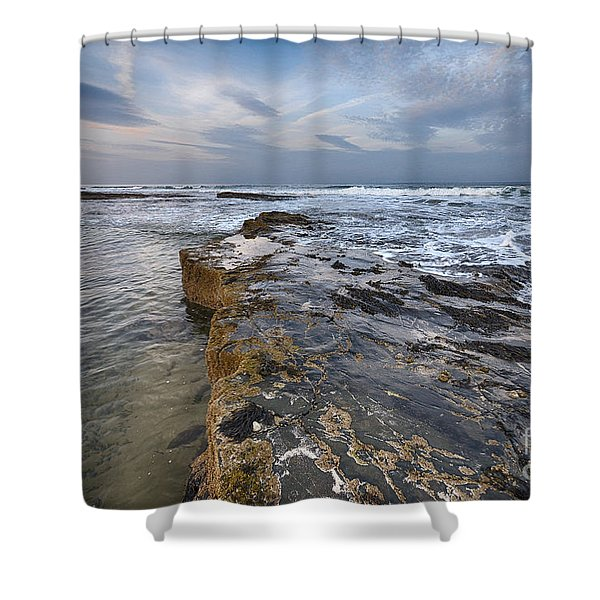 Bamburgh Beach Shower Curtain