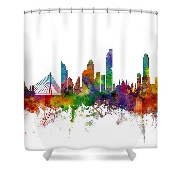 Bangkok Thailand Skyline Shower Curtain
