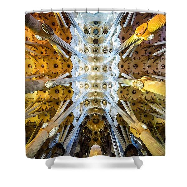 Basilica De La Sagrada Familia Shower Curtain