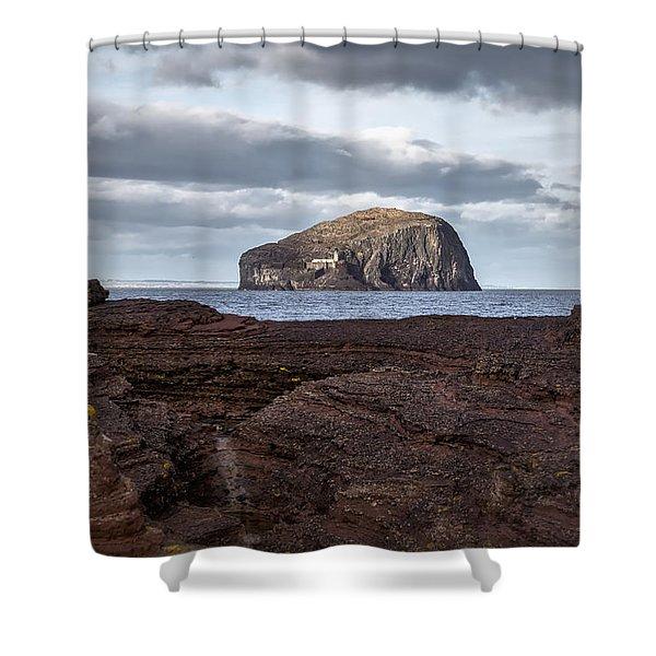 Bass Rock Shower Curtain