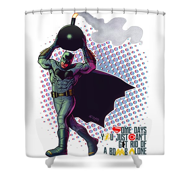 Batfleck And The Bomb Shower Curtain