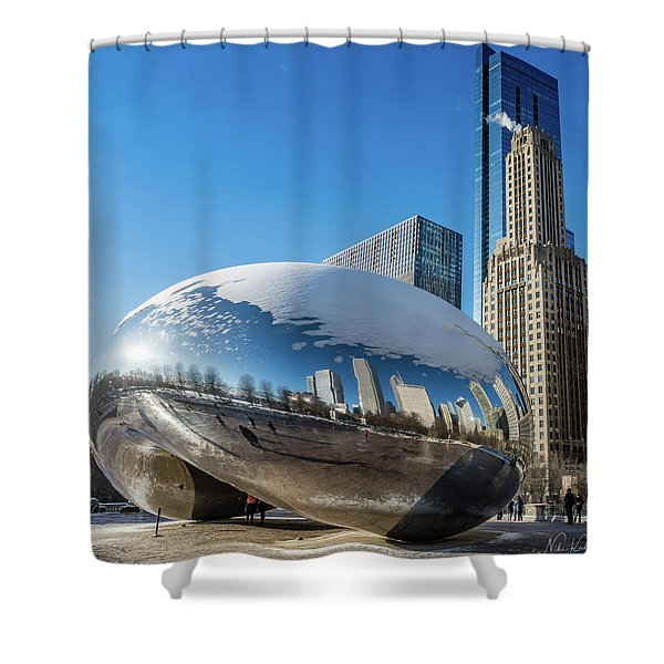 Bean Reflections Shower Curtain