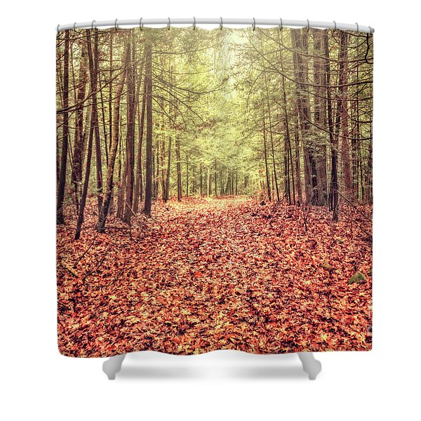 Before The Last Leaf Falls Shower Curtain