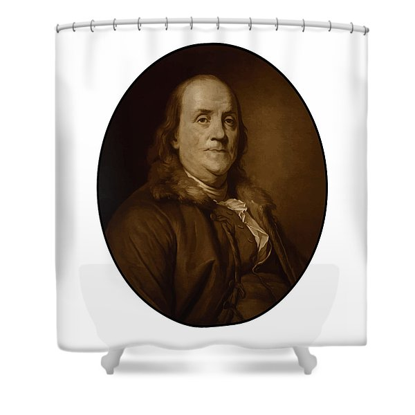 Benjamin Franklin - Three Shower Curtain