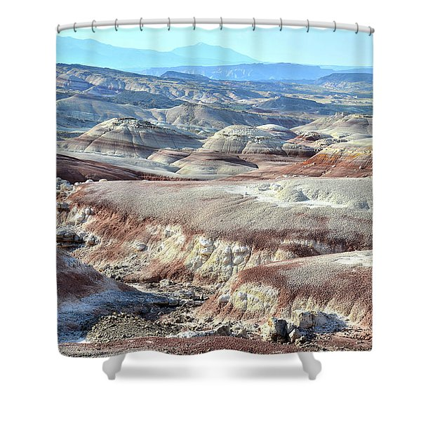 Bentonite Clay Dunes In Cathedral Valley Shower Curtain