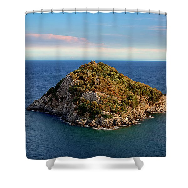 Bergeggi Island Shower Curtain