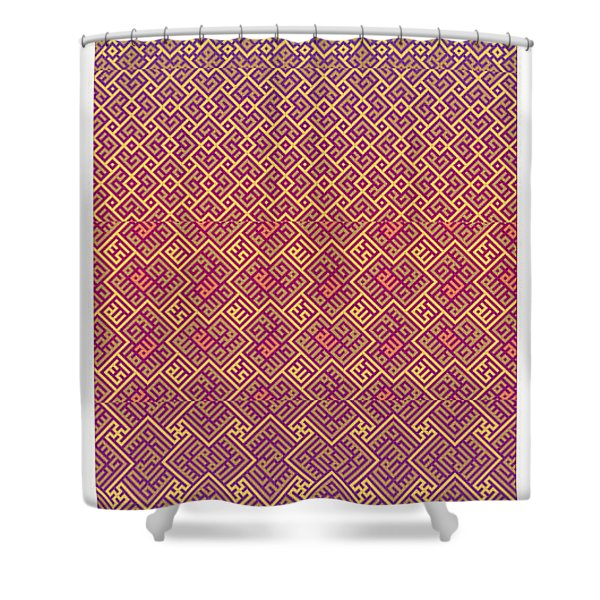 Bibi Khanum Ds Patterns No.5 Shower Curtain