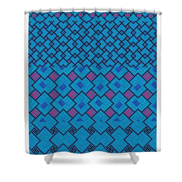 Bibi Khanum Ds Patterns No.7 Shower Curtain