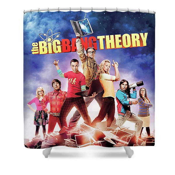 Big Bang Theory 2007 Shower Curtain