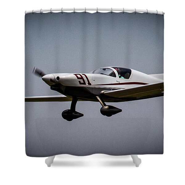 Big Muddy Air Race Number 91 Shower Curtain