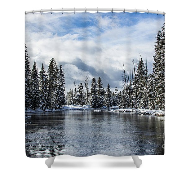Big Springs In Winter Idaho Journey Landscape Photography By Kaylyn Franks Shower Curtain