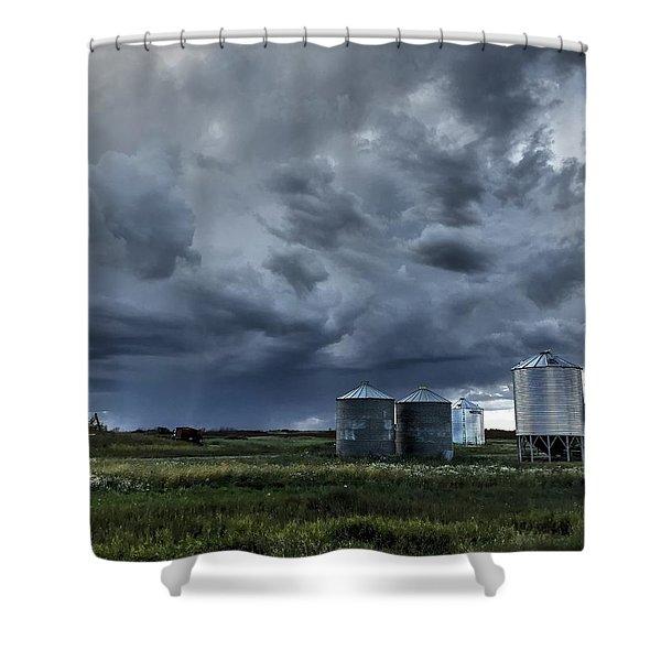 Bins Shower Curtain