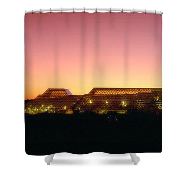 Biosphere 2 At Sunset, Arizona Shower Curtain
