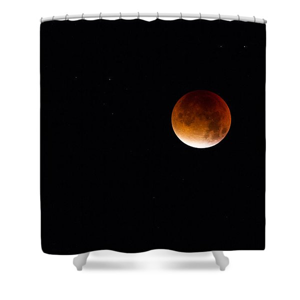 Blood Moon Super Moon 2015 Shower Curtain