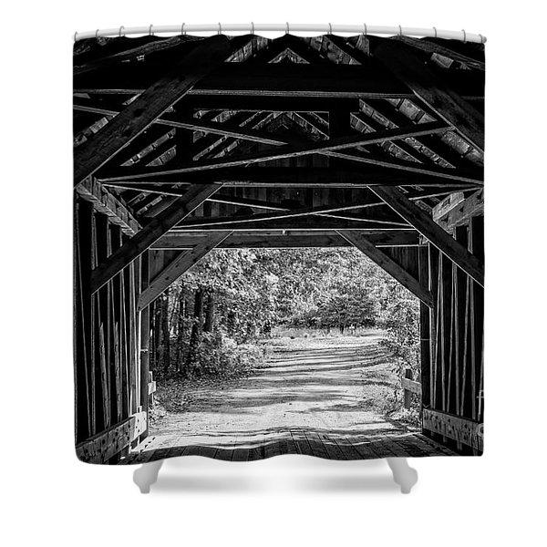 Blow Me Down Covered Bridge Cornish New Hampshire Shower Curtain
