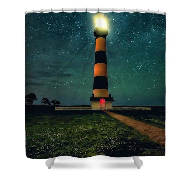 Bodie Island Night Shower Curtain
