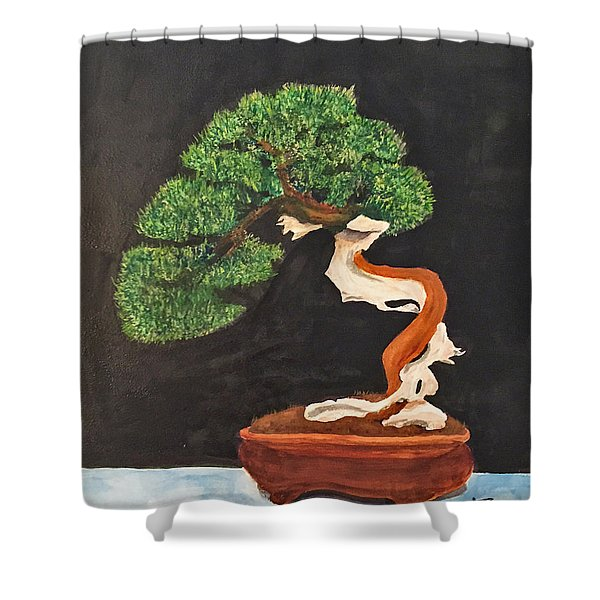 Bonsai-1 Shower Curtain