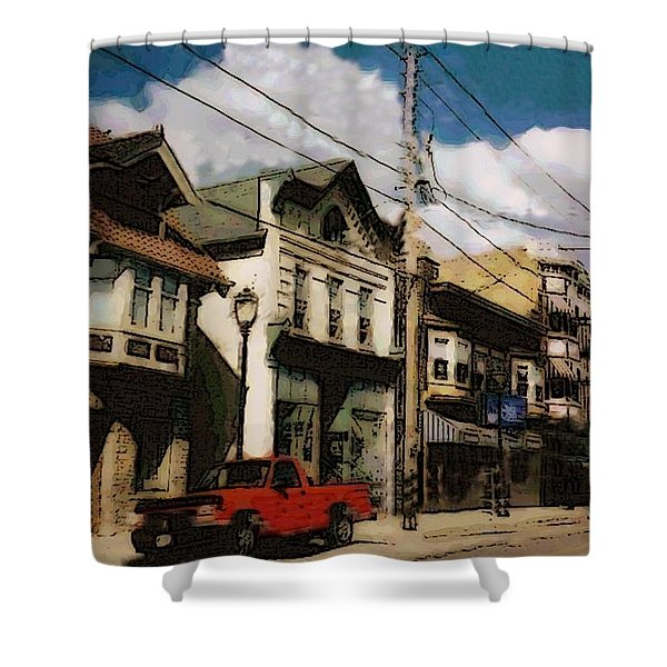 Brady Street Scene Shower Curtain