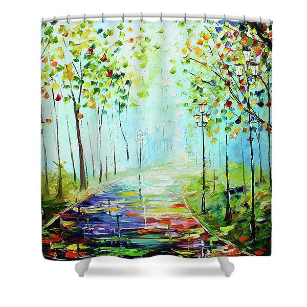 Bright Path Shower Curtain