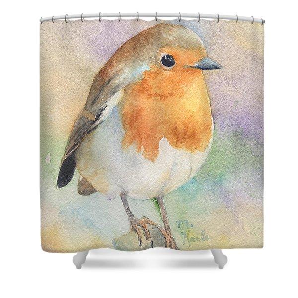 British Robin Shower Curtain