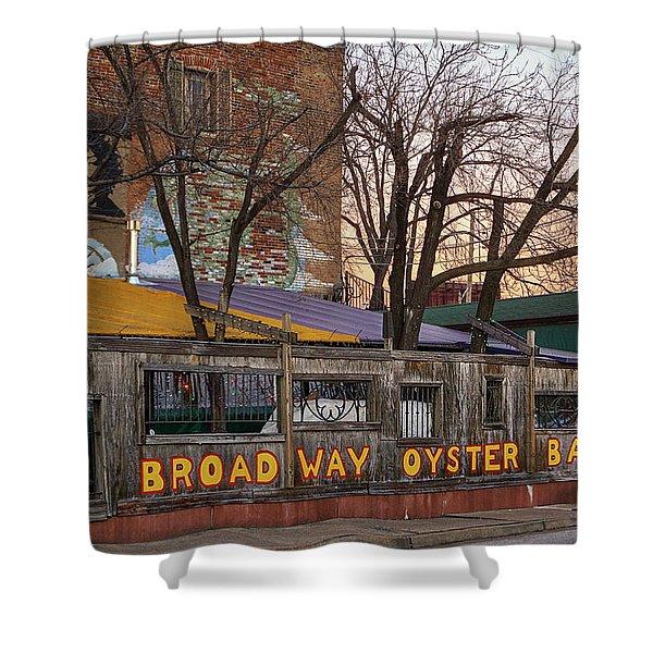 Broadway Oyster Bar Shower Curtain