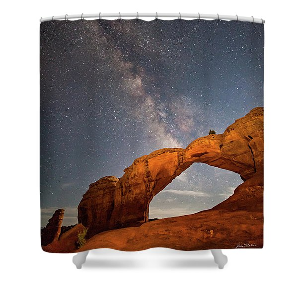 Broken Arch And Milky Way Shower Curtain