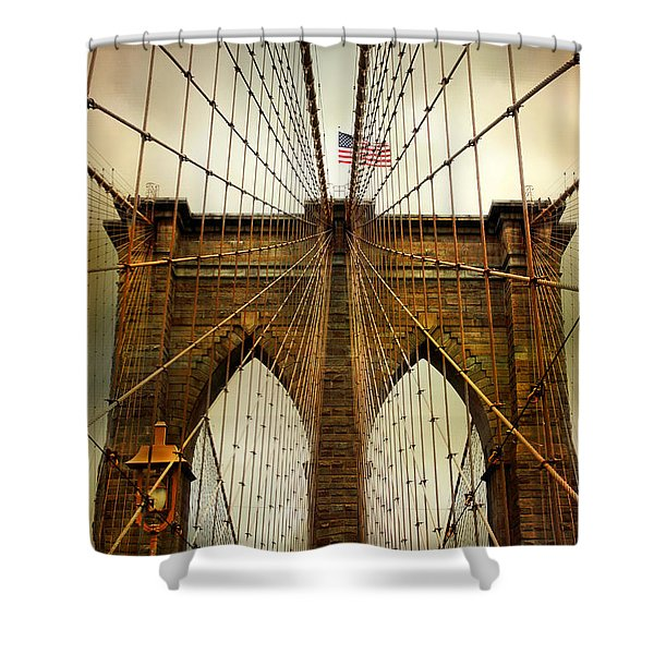 Brooklyn Bridge Twilight Shower Curtain