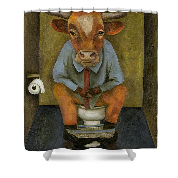 Bull Shitter Shower Curtain