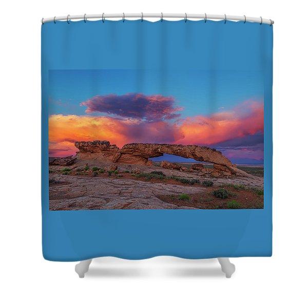 Burning Skies Shower Curtain