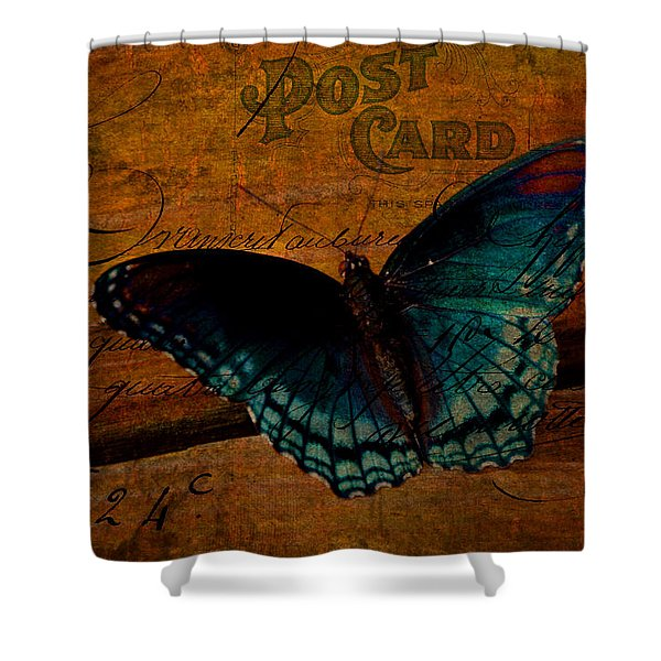 Butterfly Art French Shower Curtain