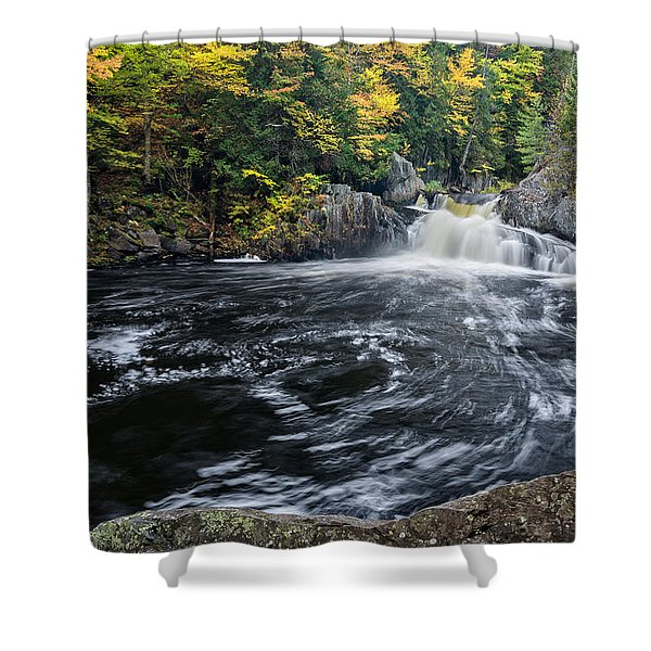 Buttermilk Falls Gulf Hagas Me. Shower Curtain