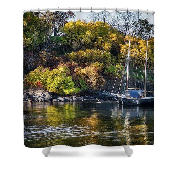 Bygdoy Harbor Shower Curtain