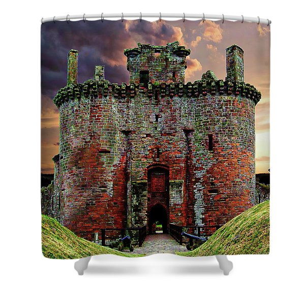 Caerlaverock Castle Shower Curtain
