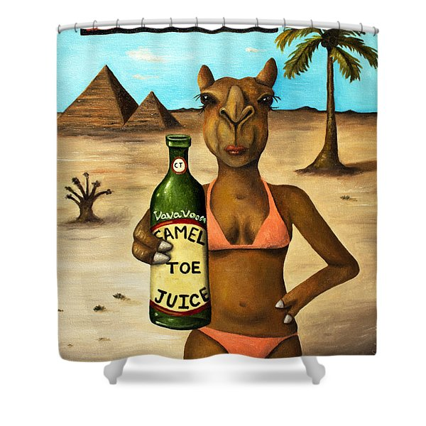 Camel Toe Juice Shower Curtain