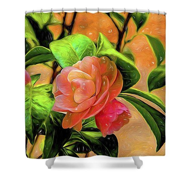 Camellia Candy Shower Curtain