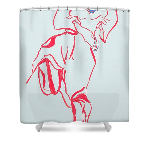 Cameroon Ngone Traditional Dance Shower Curtain