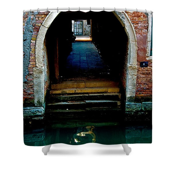 Canal Entrance Shower Curtain