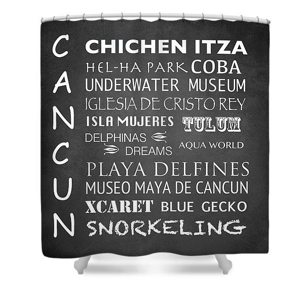 Cancun Famous Landmarks Shower Curtain